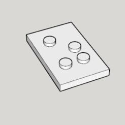 Free STL 3D Print Braille (US Standard), Imura_Works_FR