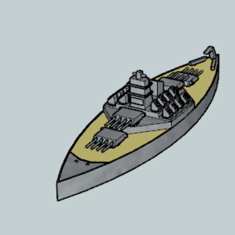 Télécharger plan imprimante 3D gatuit Navire de combat, Imura_Industry_FR