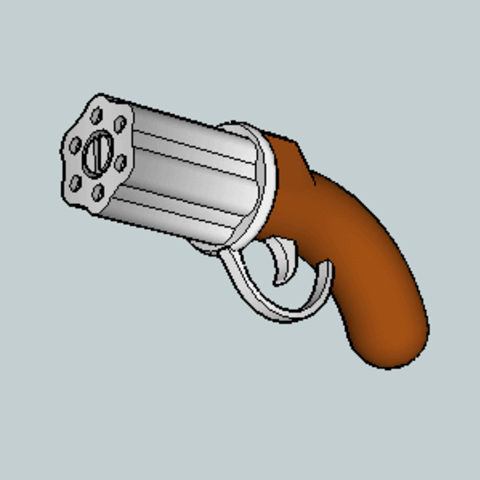 Free stl file Mini Pepper Box Pistol, Imura_Works_FR