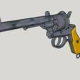 Download free 3D printer designs Lefaucheux M1858 3rd Type 12mm 6Shoot Hexagon Barrel (3D Print Kit Toy Gun), Imura_Industry_FR