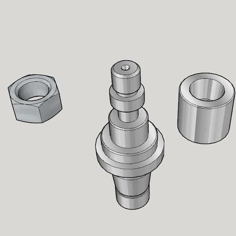 Free 3D printer designs Japan Lathe Grade 2 License Examination 3D Model Teaching Material, Imura_Works_FR