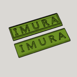 Download free STL files Imura Family Name Plate, Imura_Industry_FR