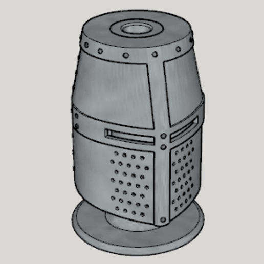 Download free STL file Medieval Great Helm Pen Stand (Standard Ver 1-3 Size Ver) • 3D printing object, Imura_Industries