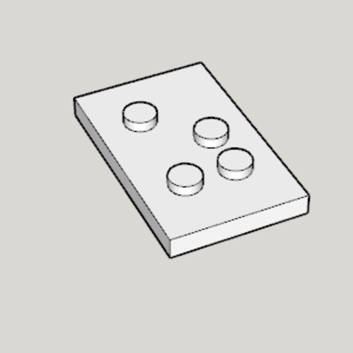 Braille (US Standard).png Download free STL file 3D Print Braille (US Standard) • 3D printing object, Imura_Industries