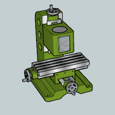Original Milling Machine.png Download free STL file Original Milling Machine • Template to 3D print, Imura_Industries