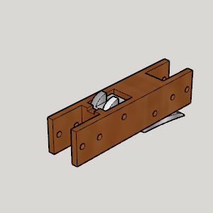 Cross Bow Receiver.png Download free STL file Cross Bow Receiver • 3D printable model, Imura_Industries