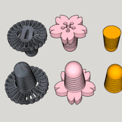 CG 800×600.png Download free STL file 3D printing earplugs (Japanese traditional design 2 types set) • 3D print design, Imura_Industries