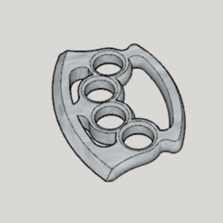 Free STL file Ax Blade Knuckle Duster, Imura_Industry_FR