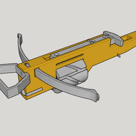 Free stl file Zig Zag Revolver Cross Bow V1.0 (3D Print Kit Bow), Imura_Works_FR