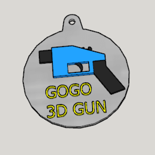 Télécharger fichier 3D gratuit 3D Gun Propaganda Porte-clés de propagande de pistolet, Imura_Industry