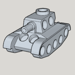 Free 3d print files Airsoft Only Tank Type 7mm Cap Target, Imura_Works_FR