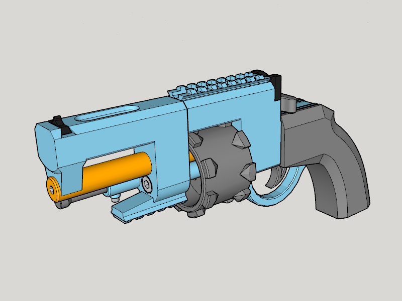 Completion CG.png Download free STL file Vanguard Revolver Tactical (3D Print Kit Toy Gun) • 3D printer model, Imura_Industries