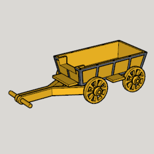 Download free 3D printing files Western Covered Wagon, Imura_Industry
