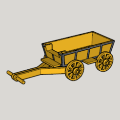 Download free STL file Western Covered Wagon • 3D printable design, Imura_Industries