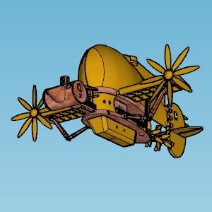 Castle in The Sky Tiger Moth.png Télécharger fichier STL gratuit Château dans la teigne du tigre du ciel • Plan pour impression 3D, Imura_Industries
