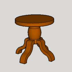 Download free 3D model Classic Round Table, Imura_Industry