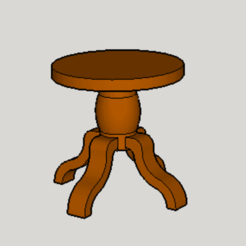 Free 3d printer model Classic Round Table, Imura_Works_FR