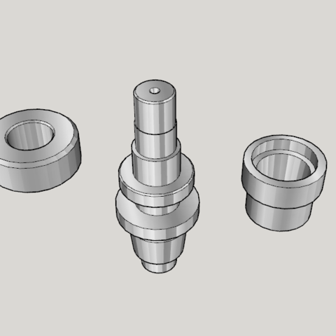Free 3D print files Japan Lathe Grade 1 License Examination 3D Model Teaching Material, Imura_Works_FR