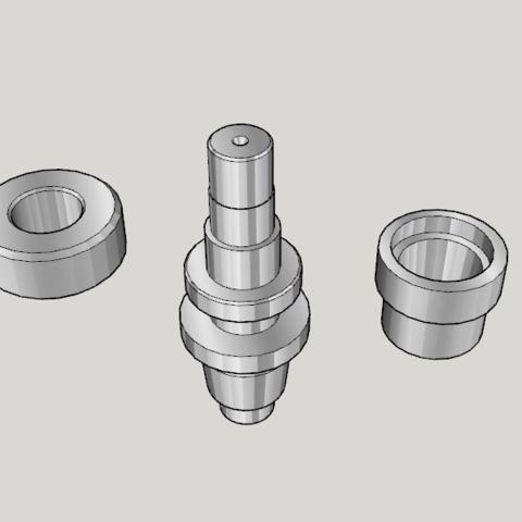 Free 3D print files Japan Lathe Grade 1 License Examination 3D Model Teaching Material, Imura_Works_FR