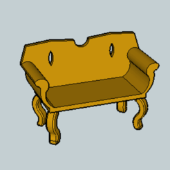 Download free 3D printer templates Classic Sofa, Imura_Industry