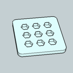 Free stl files Hexagon Ice Tray, Imura_Works_FR