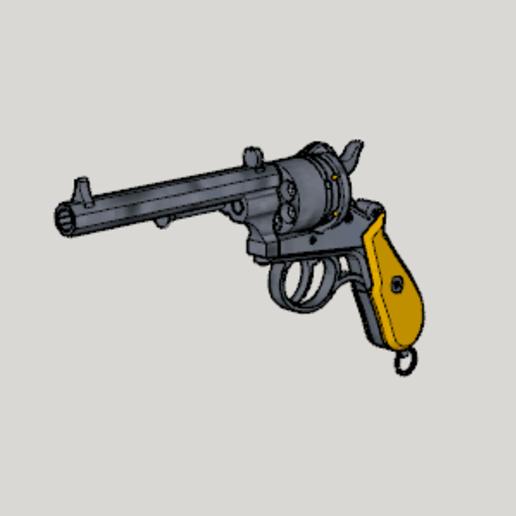 Télécharger fichier STL gratuit Lefaucheux M1858 3rd Type 12mm 6Shoot Hexagon Barrel (3D Print Kit Toy Gun) • Objet pour imprimante 3D, Imura_Industries