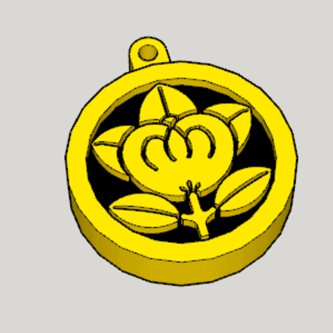 Marunitatchbana Key Chain.png Download free STL file Marunitatchbana Key Chain • 3D printable object, Imura_Industries