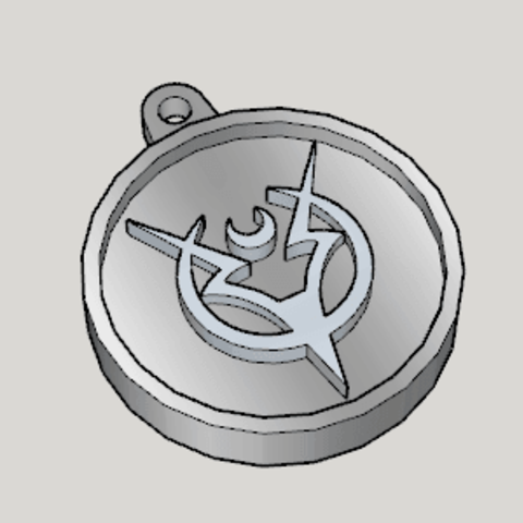 Free 3d printer designs Tales of Zestiria Emblem Key Chain, Imura_Works_FR