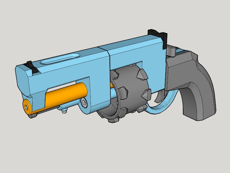 Completion CG.png Download free STL file Vanguard Revolver (3D Print Kit Toy Gun) • Model to 3D print, Imura_Industries
