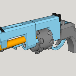 Completion CG.png Download free STL file Vanguard Revolver (3D Print Kit Toy Gun) • Model to 3D print, Imura_Industries