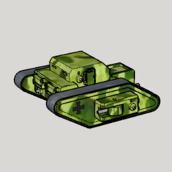 Free stl WWI German Fictional Rhomboid RC Tank, Imura_Works_FR