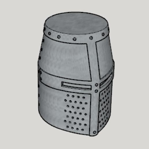 Medieval Great Helm (Standard Ver Full Size Ver).png Télécharger fichier STL gratuit Grande barre médiévale (Standard Ver Full Size Ver) • Modèle pour imprimante 3D, Imura_Industries