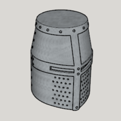 Medieval Great Helm (Standard Ver Full Size Ver).png Download free STL file Medieval Great Helm (Standard Ver Full Size Ver) • Template to 3D print, Imura_Industries