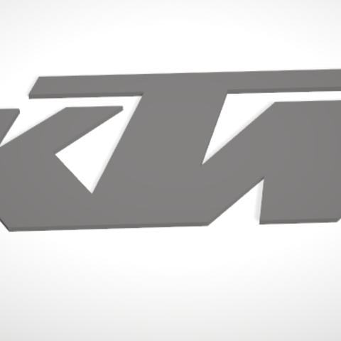 Objet 3D Logo KTM, Uppergrade