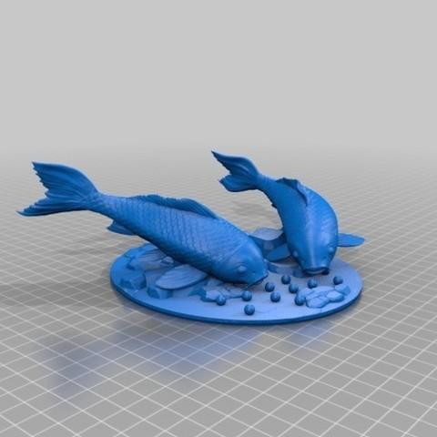 Modelos 3D para imprimir gratis Alimentación de carpas, kobusrraaths5