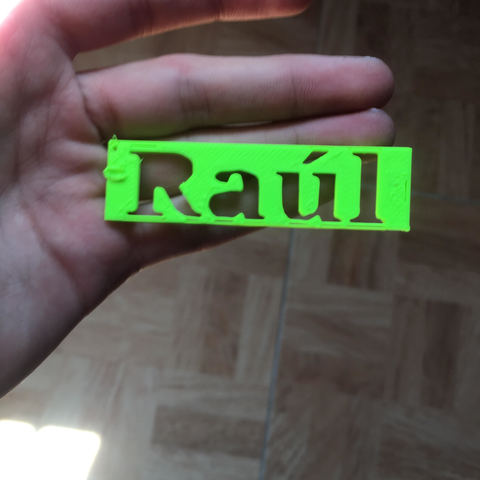 unnamed.jpg Download free STL file Raul key ring • Design to 3D print, Raulbaeza15
