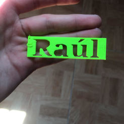 Free Raul key ring STL file, Raulbaeza15