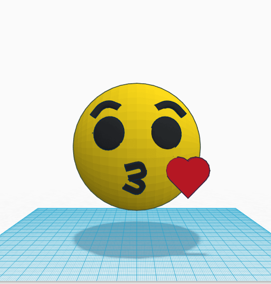 emoji 2.png Download free STL file Emoji kiss kiss little kiss • 3D printable design, Raulbaeza15