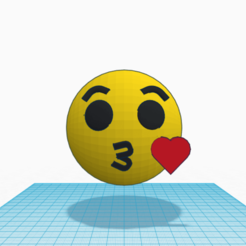Free 3D printer file Emoji kiss kiss little kiss, Raulbaeza15