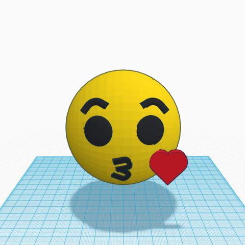 emoji 1.png Download free STL file Emoji kiss kiss little kiss • 3D printable design, Raulbaeza15