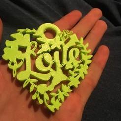 Download free 3D printing designs Love key ring, Raulbaeza15