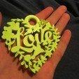 Free 3D printer designs Love key ring, Raulbaeza15