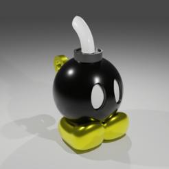 Bob-Omb Mini.png Télécharger fichier STL gratuit Bob-Omb • Objet imprimable en 3D, kfels88