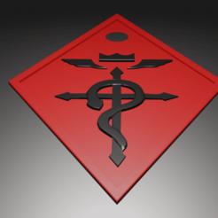 Fullmetal.png Download free STL file Fullmetal Alchemist (KeyChain) • 3D printer model, kfels88