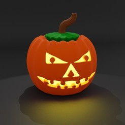 pumpkinPIC2.jpg Download free STL file Halloween-Pumpkin • 3D printing template, kfels88