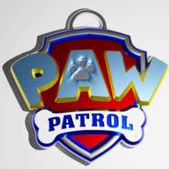 PP.png Download STL file PawPatrol KeyChain • Template to 3D print, kfels88
