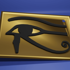 Eye of Horus.png Download STL file Eye of Horus • 3D printing object, kfels88