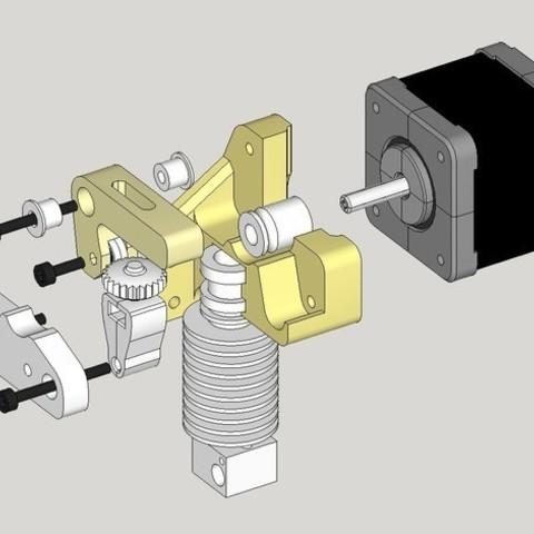 7976d00df0535db6735fad25914bfbd9_preview_featured.jpg Download free STL file Dasaki MK8ish Direct Drive Extruder for Prusa i3 (MK7 drive gear) • 3D printable design, dasaki