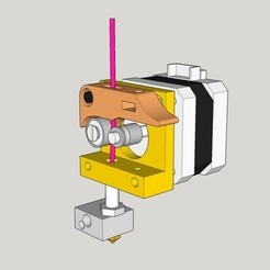 Download free STL file MK8 direct drive extruder 7mm pulley adapter • 3D printable template, dasaki