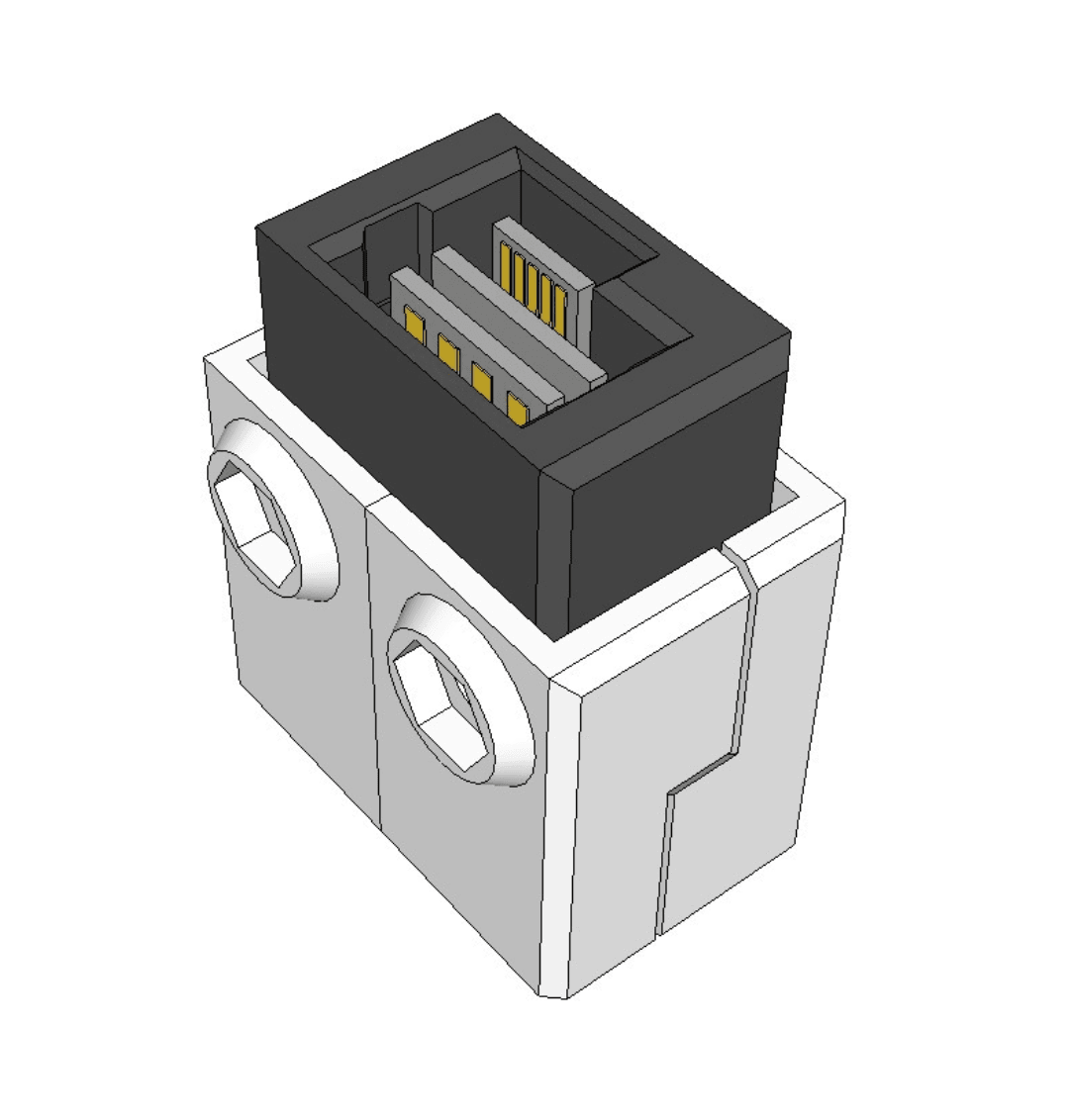 Capture d'écran 2018-04-05 à 15.10.59.png Download free STL file Dasaki Kinect2 (One) USB 3.0 / DC breakout connector adapter • Template to 3D print, dasaki